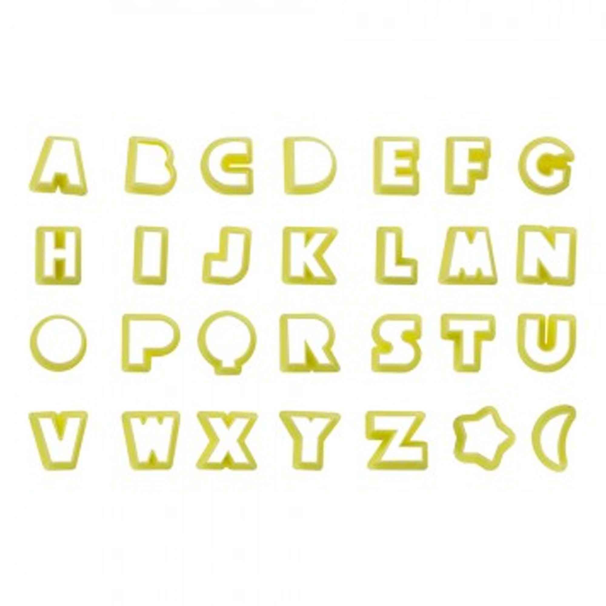 Cortador Biscuit Letras 3,5cm