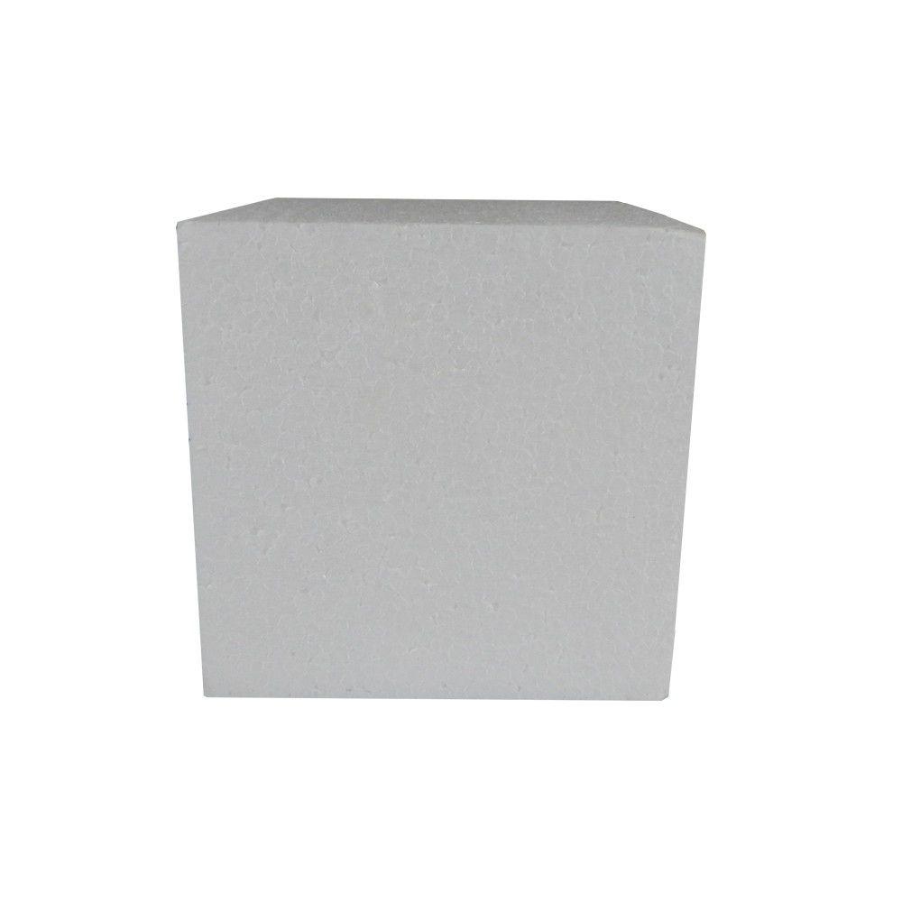 Cubo em isopor 12,5X12,5X12,5cm
