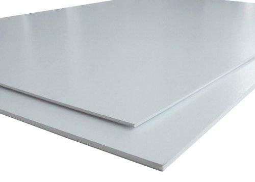 Placa de Depron XPS Pluma Foam Forrado Branco x Branco 1000x600x05mm