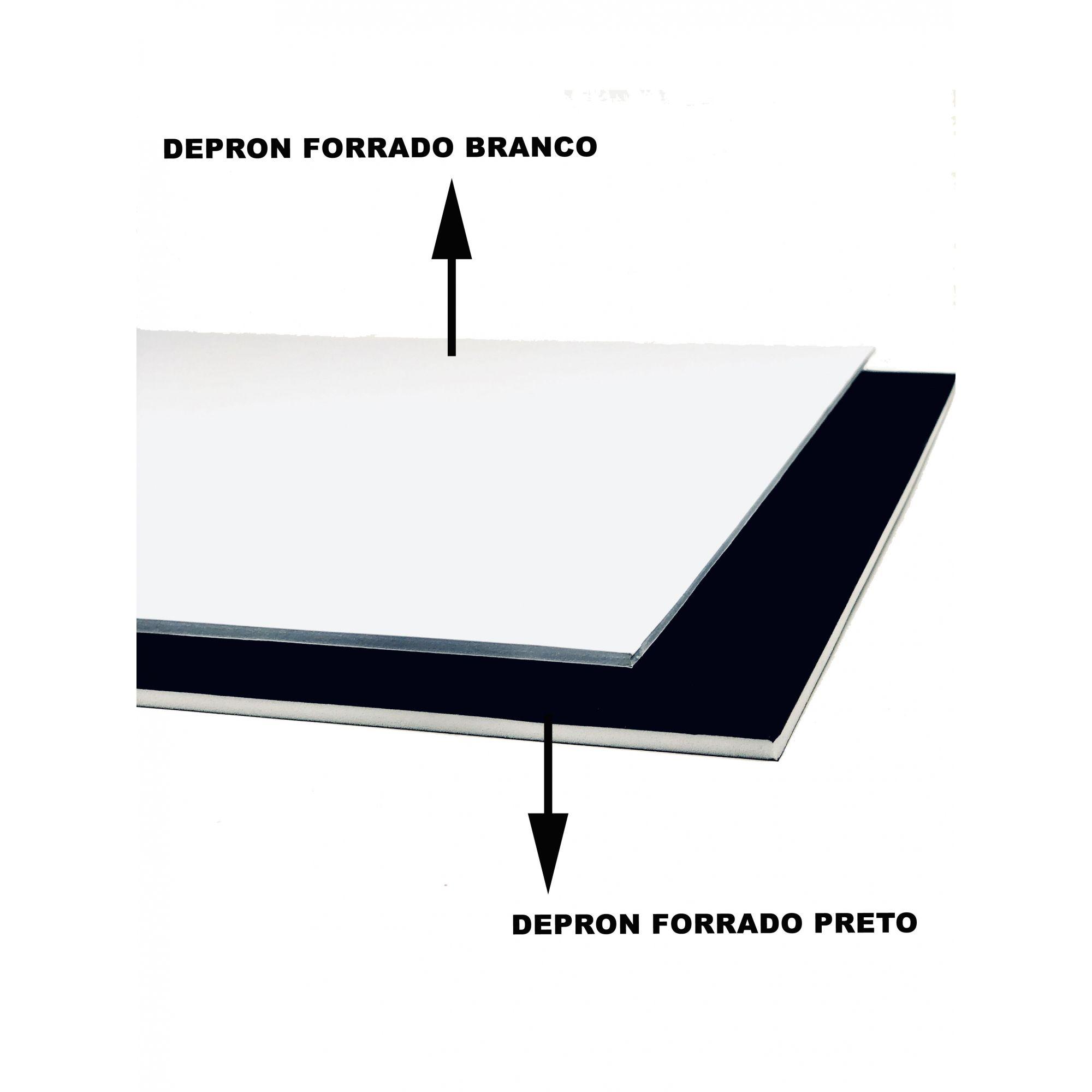 Depron Forrado PretoxPreto 1000x600x5mm
