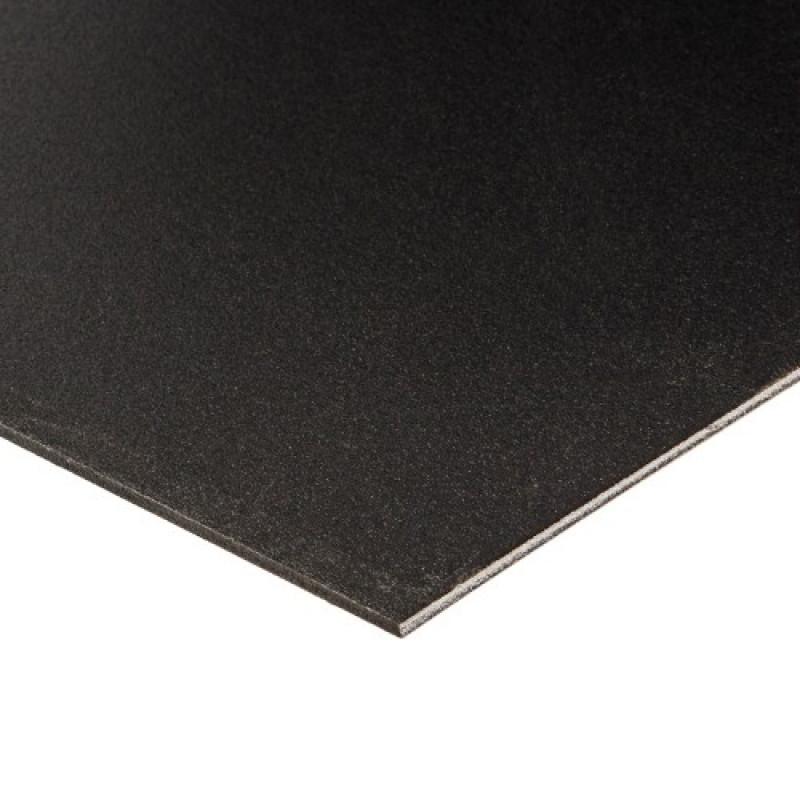 Placa de Depron XPS Pluma Foam Forrado Preto x Preto 1000x600x5mm