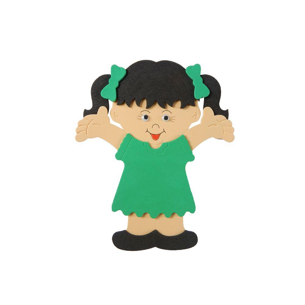 Estampa EVA Menina Vestido Verde