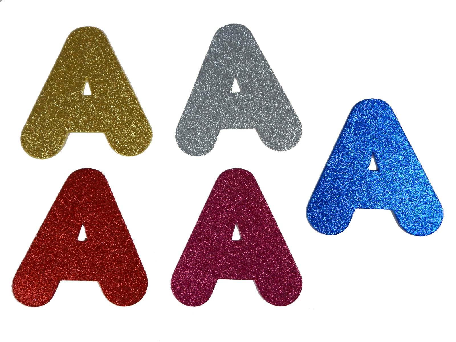 Letra Eva A 12cm Glitter