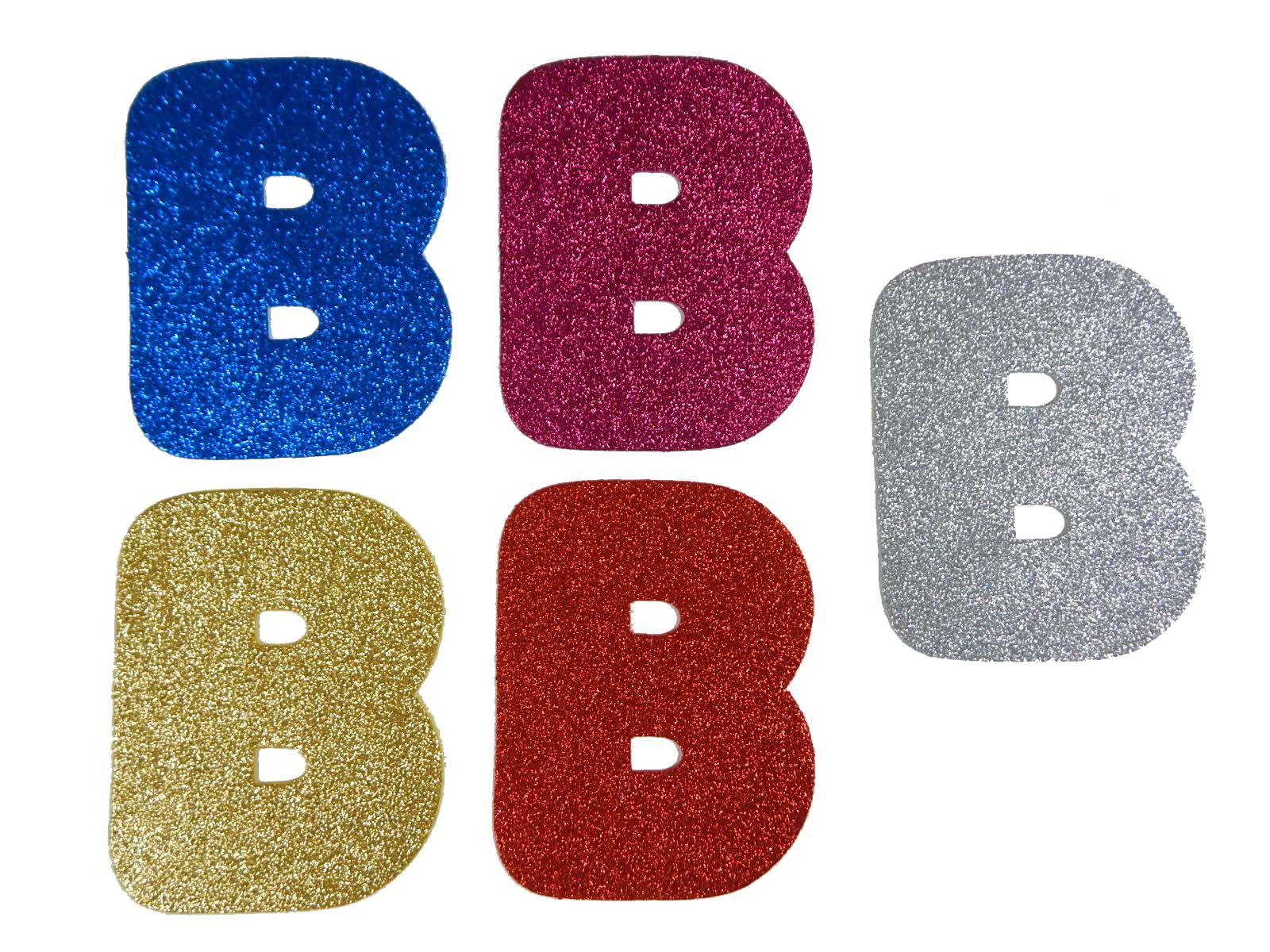 Letra Eva B 12cm Glitter