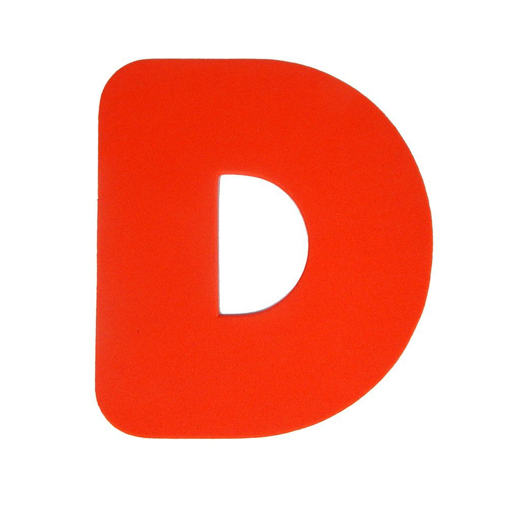 Letra EVA D 20cm