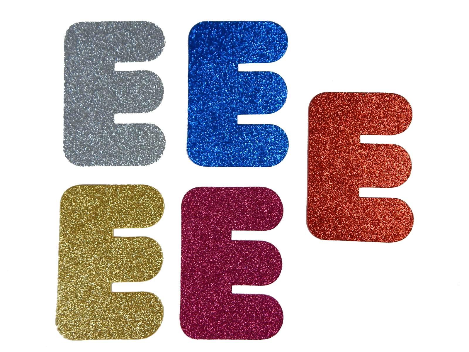 Letra Eva E 12cm Glitter