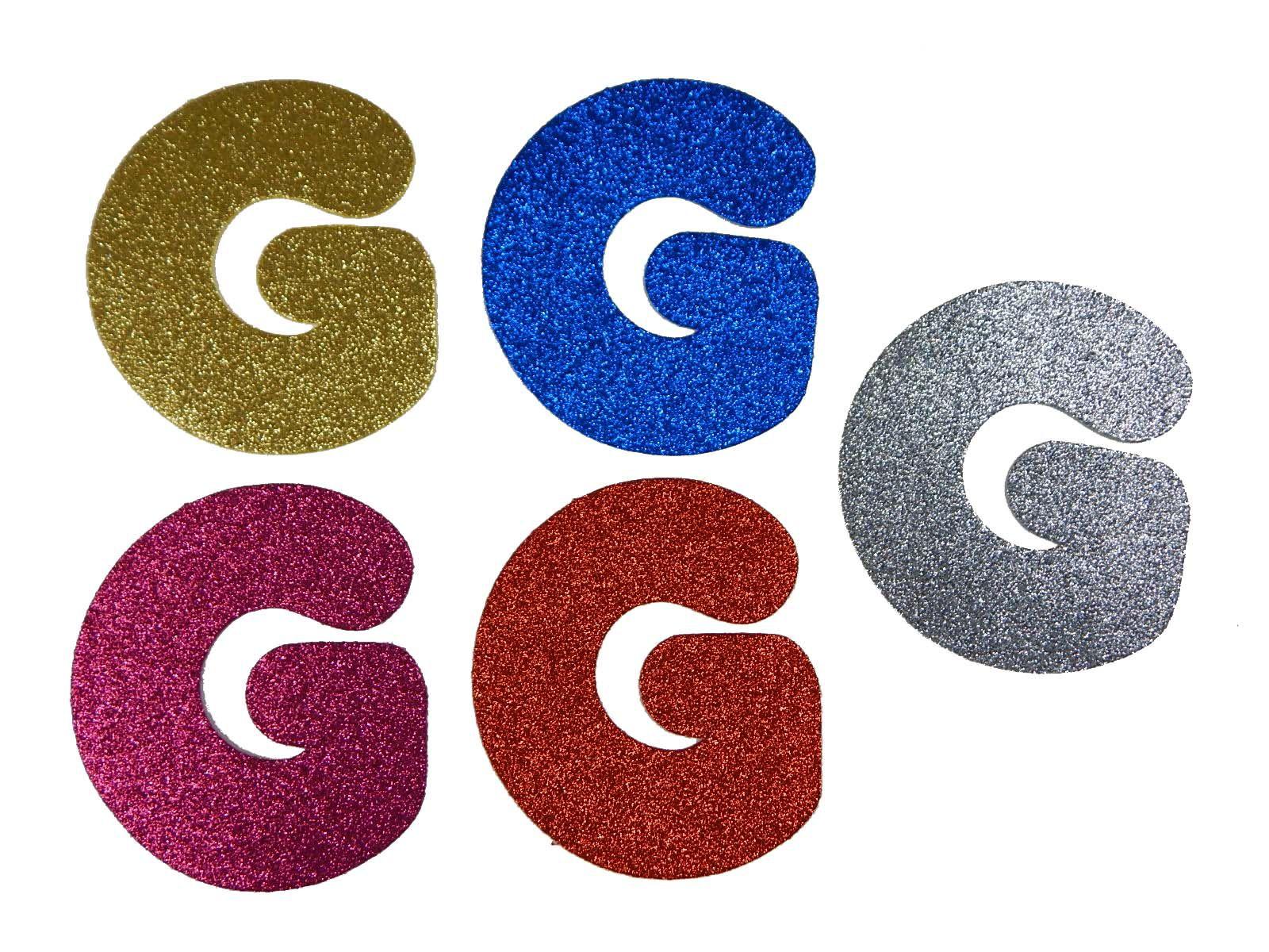 Letra Eva G 12cm Glitter