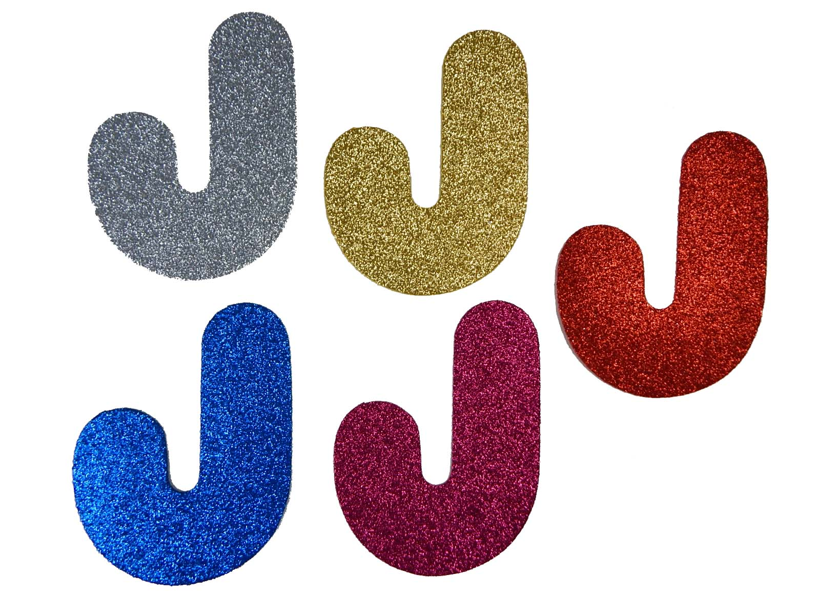 Letra Eva J 12cm Glitter