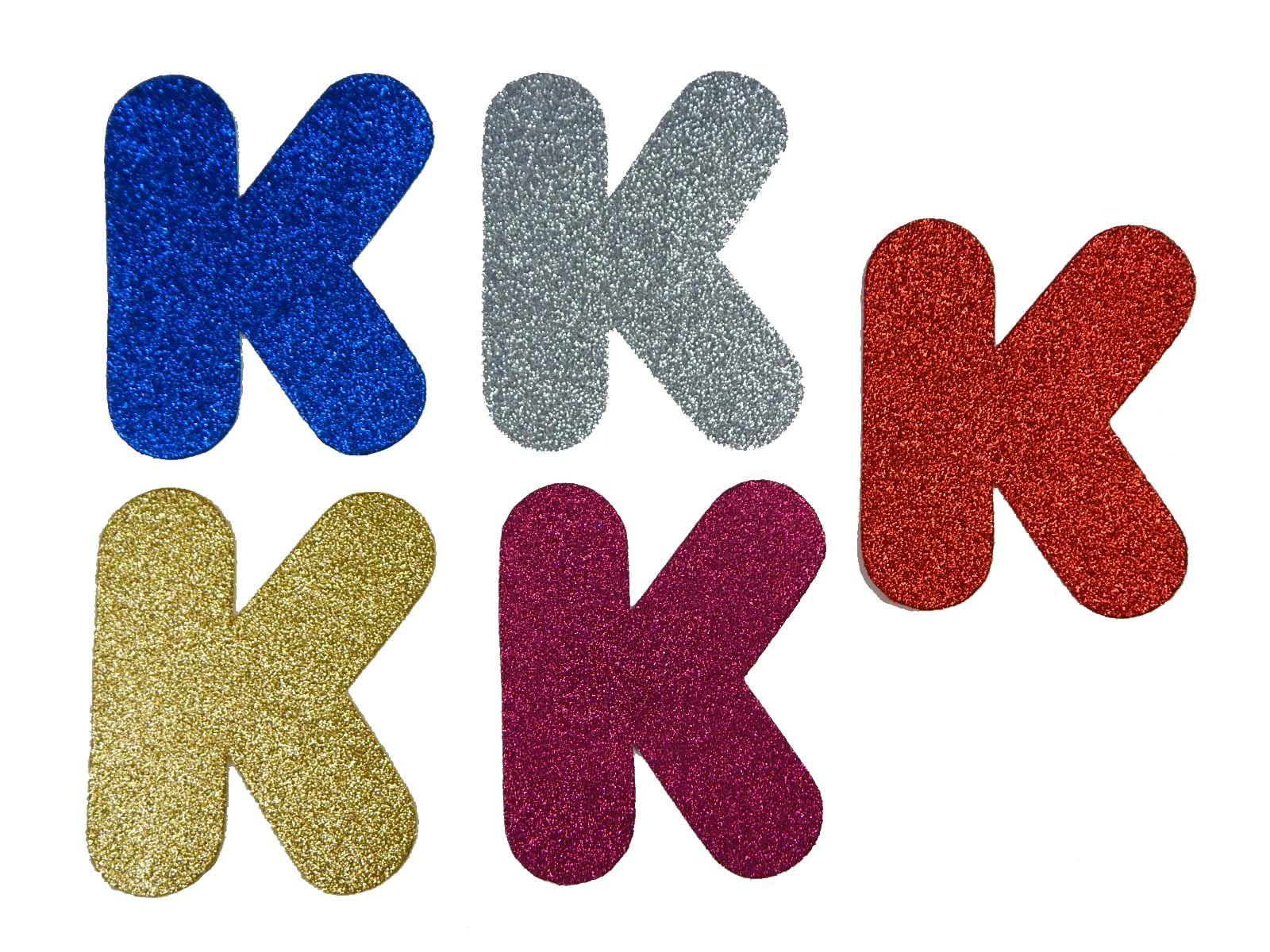 Letra Eva K 12cm Glitter