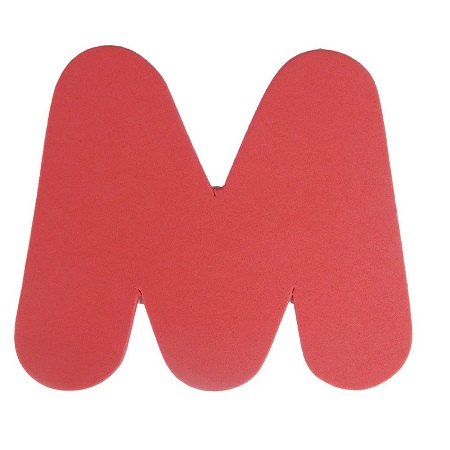 Letra Eva M 4,5cm
