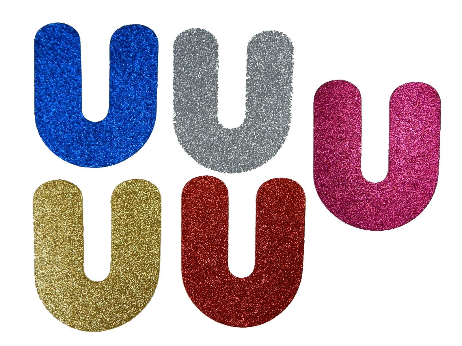 Letra Eva U 12cm Glitter
