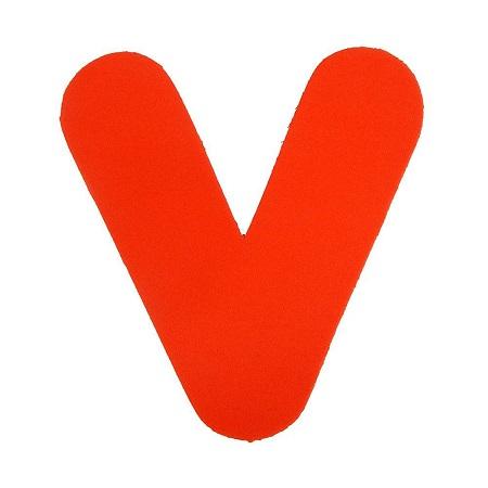 Letra Eva V 4,5cm