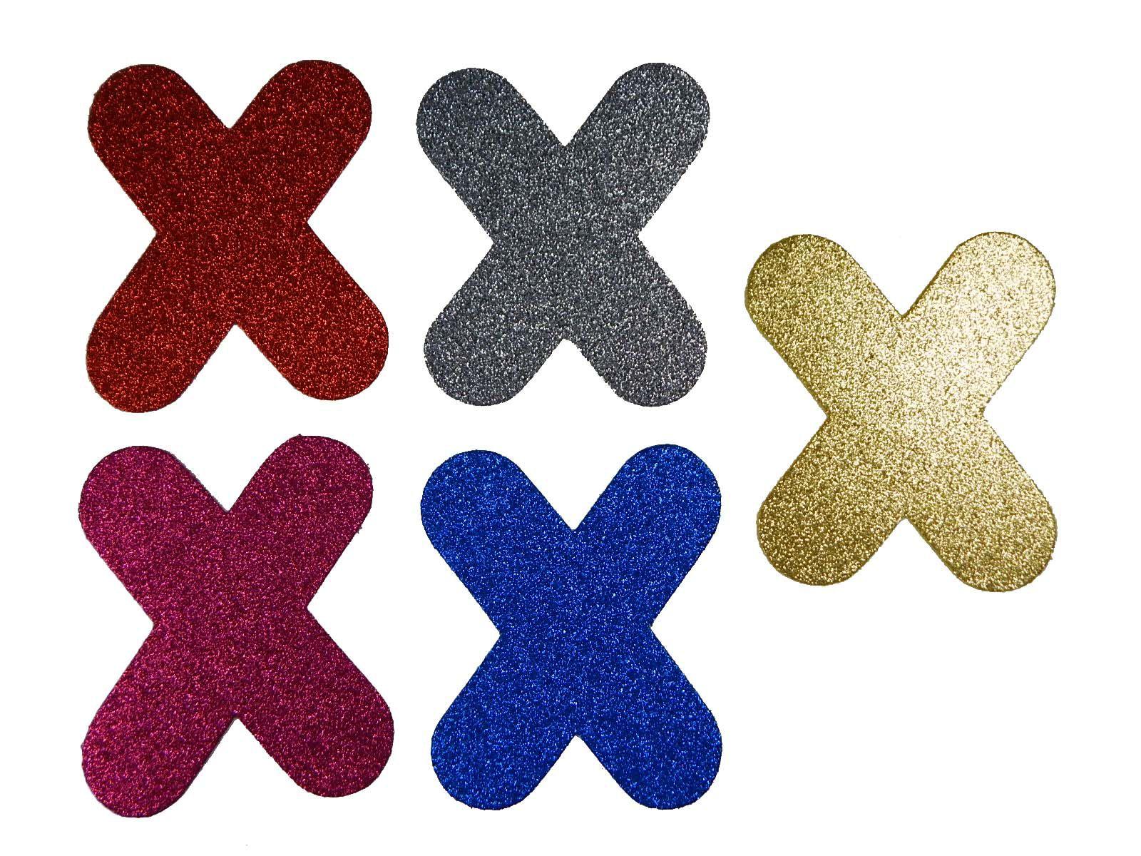 Letra Eva X 12cm Glitter