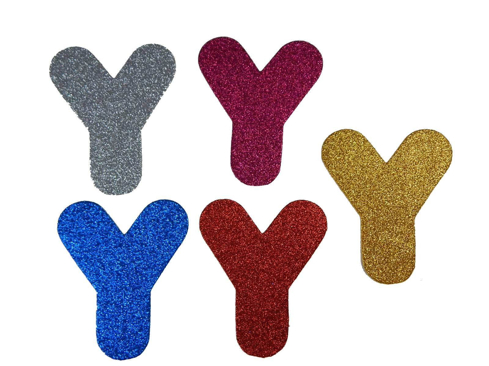 Letra Eva Y 12cm Glitter