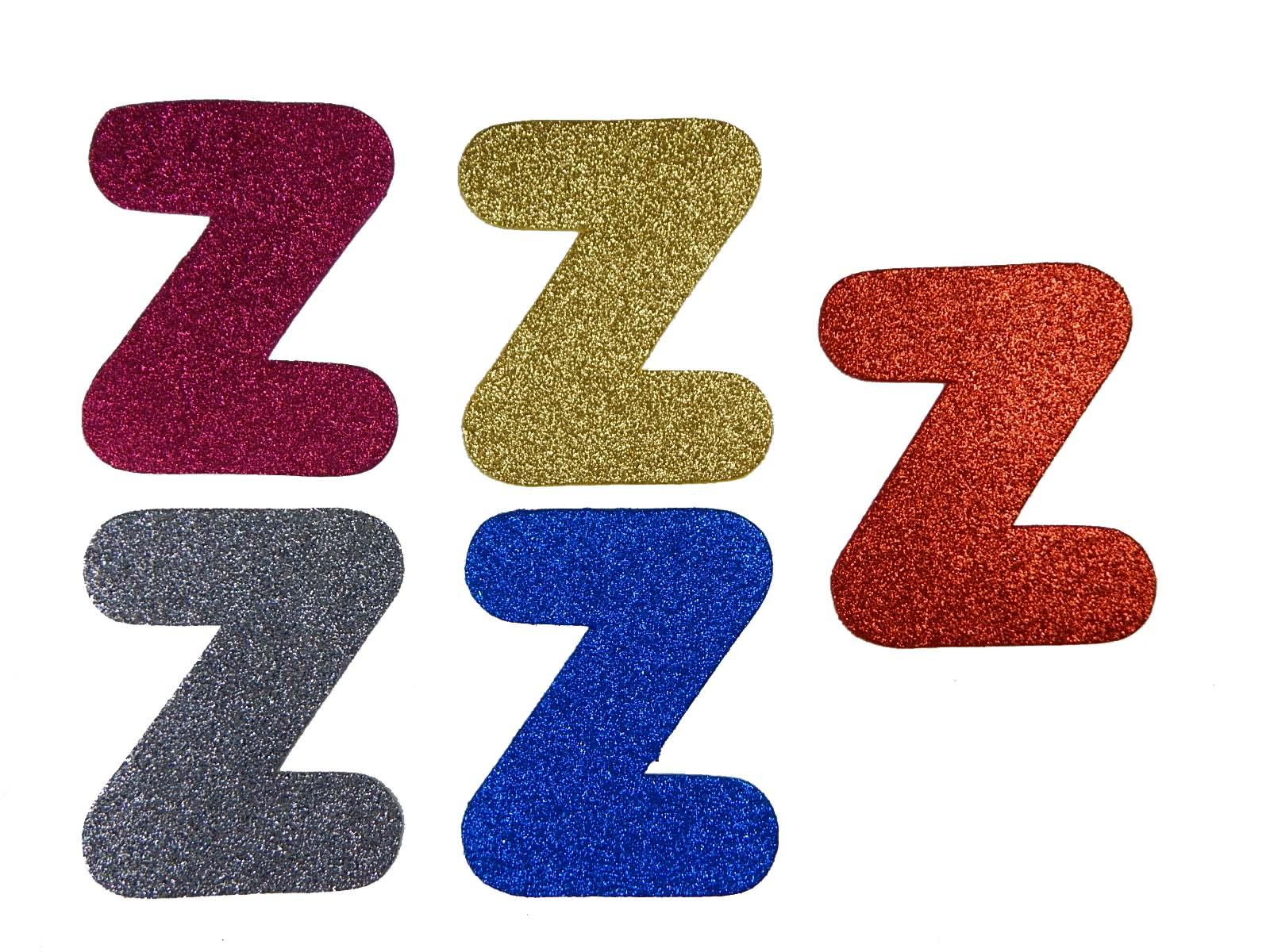 Letra Eva Z 12cm Glitter