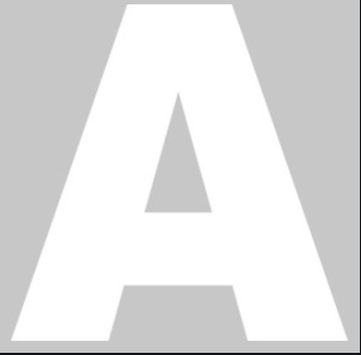 Letra Isopor 50cm Altura x 4cm Espessura