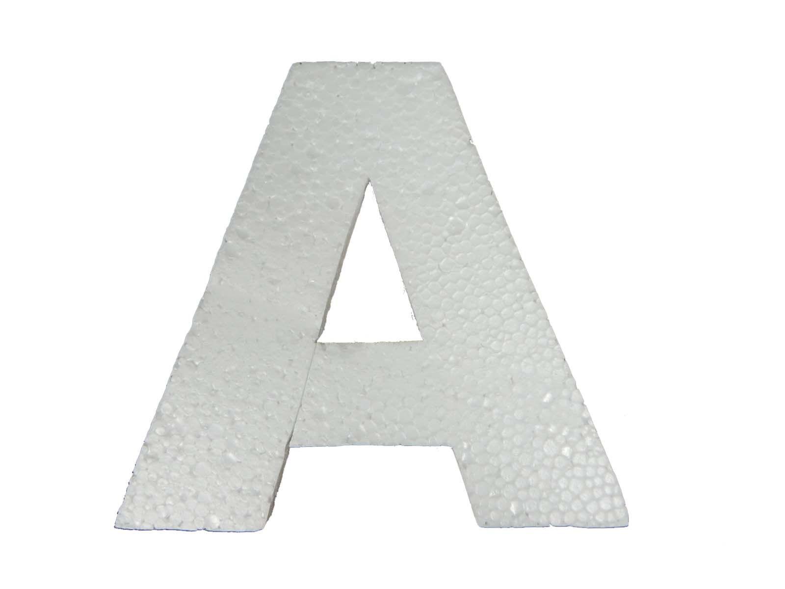Letra Isopor Arial Black 10cm