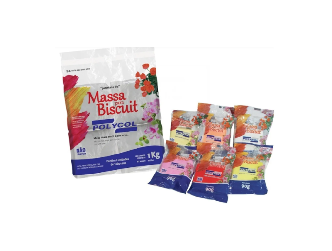 Massa para Biscuit Polycol Cores 90g