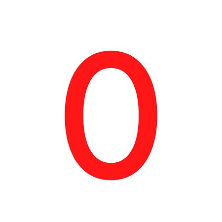 Numero em Eva 0 12cm