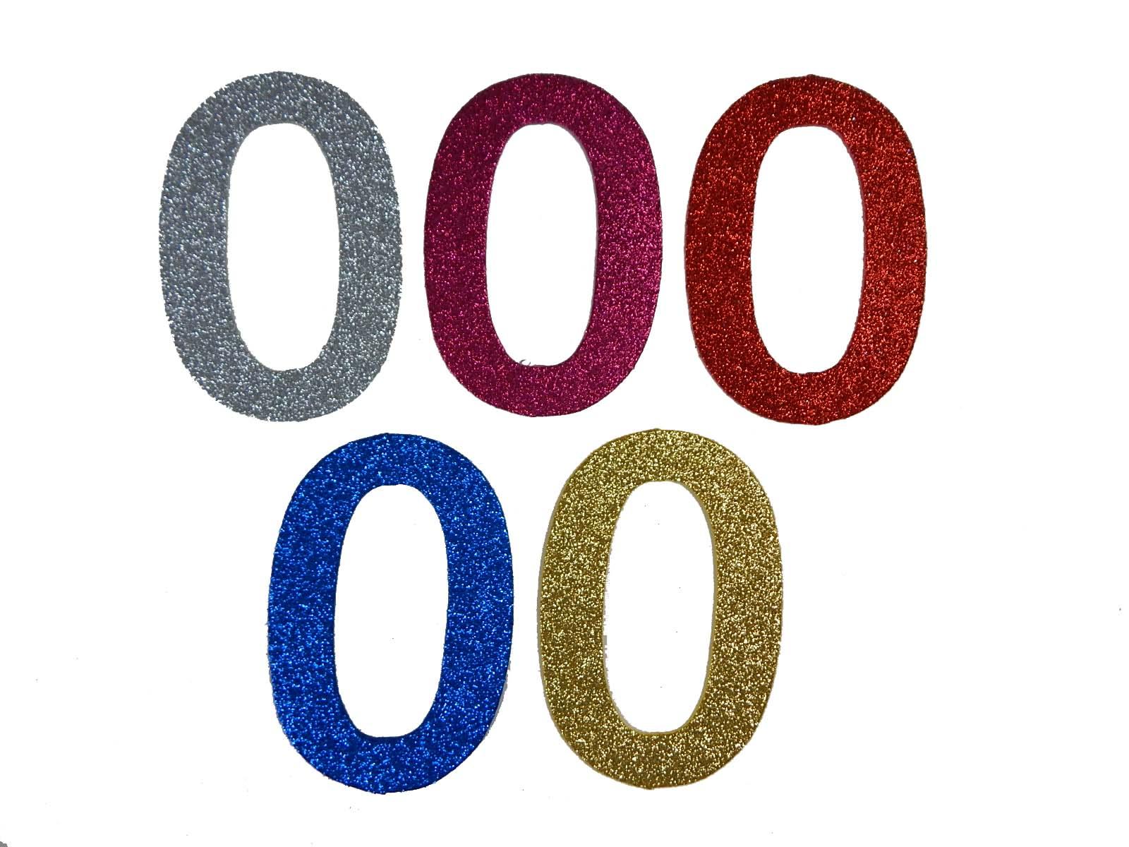 Numero em Eva 0 12cm Glitter