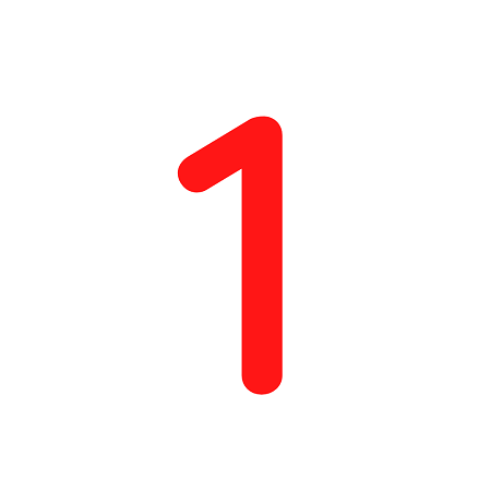 Numero em Eva 1 12cm