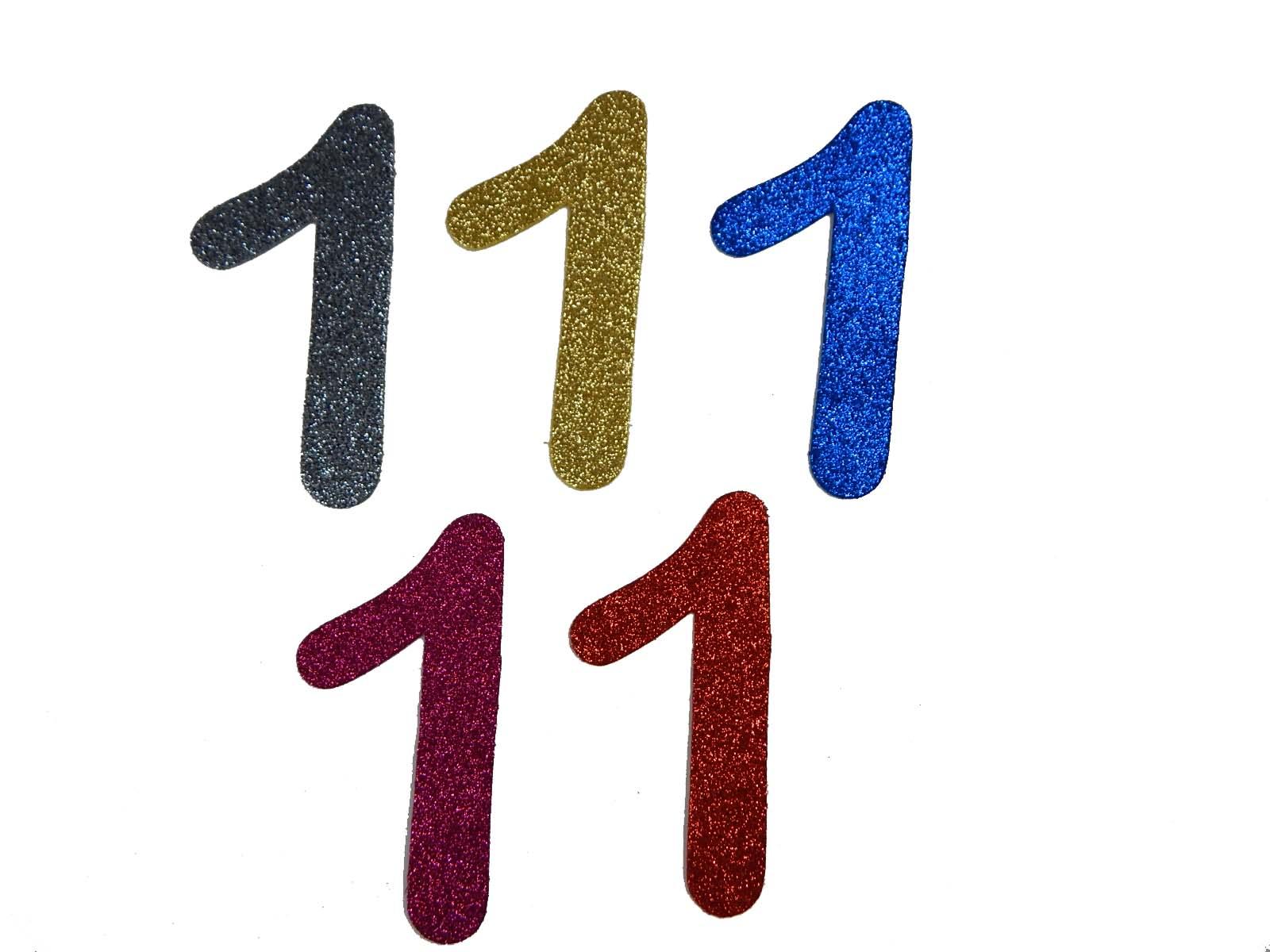Numero em Eva 1 12cm Glitter