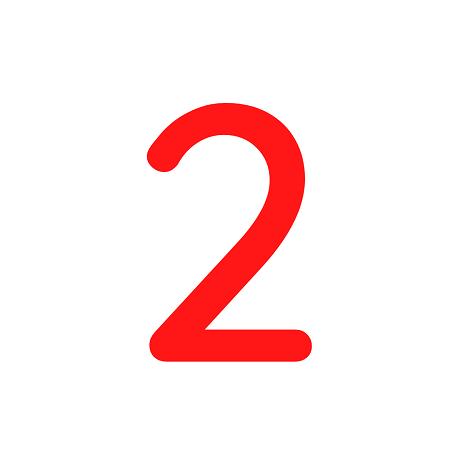 Numero em Eva 2 12cm