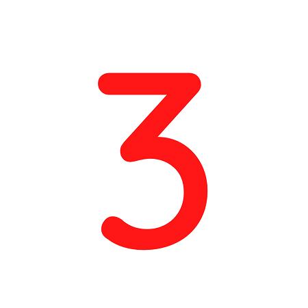 Numero em Eva 3 12cm