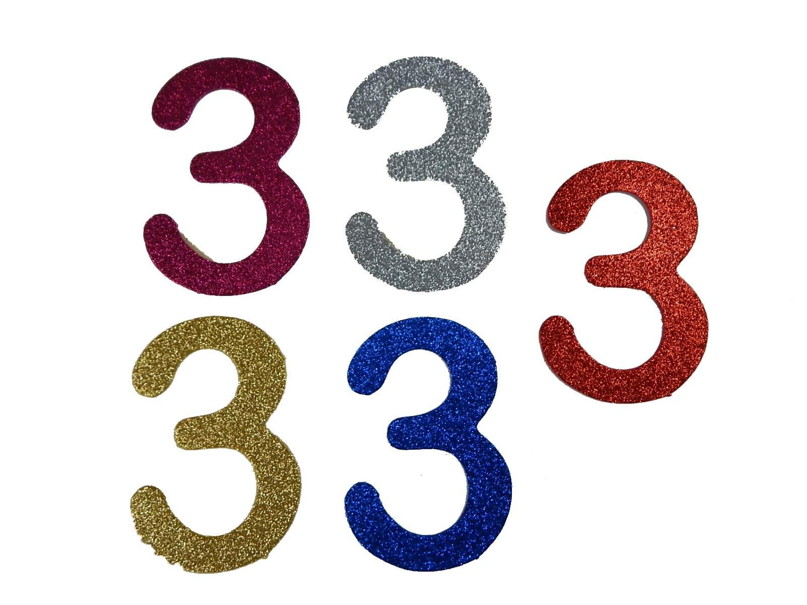 Numero em Eva 3 12cm Glitter