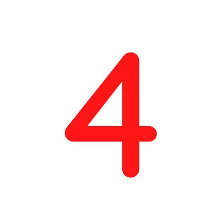 Numero em Eva 4 12cm