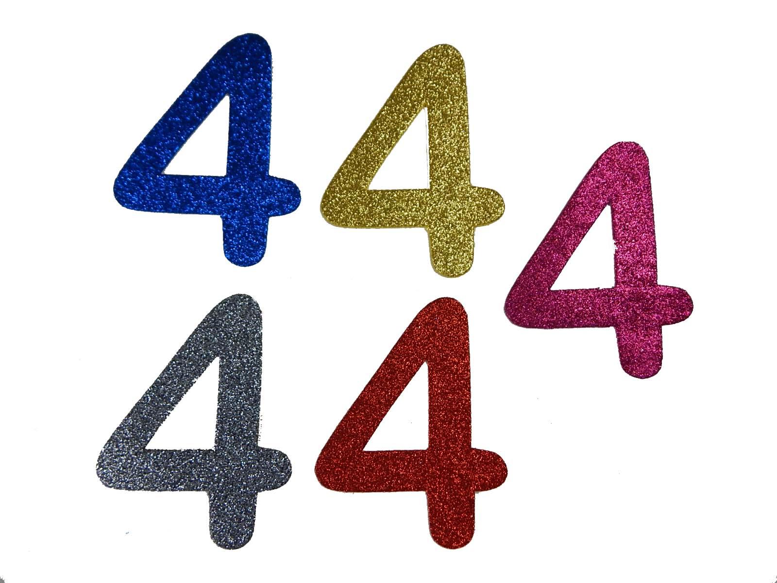 Numero em Eva 4 12cm Glitter