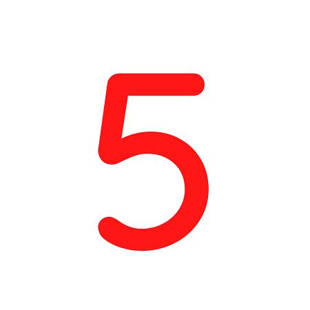 Numero em Eva 5 12cm