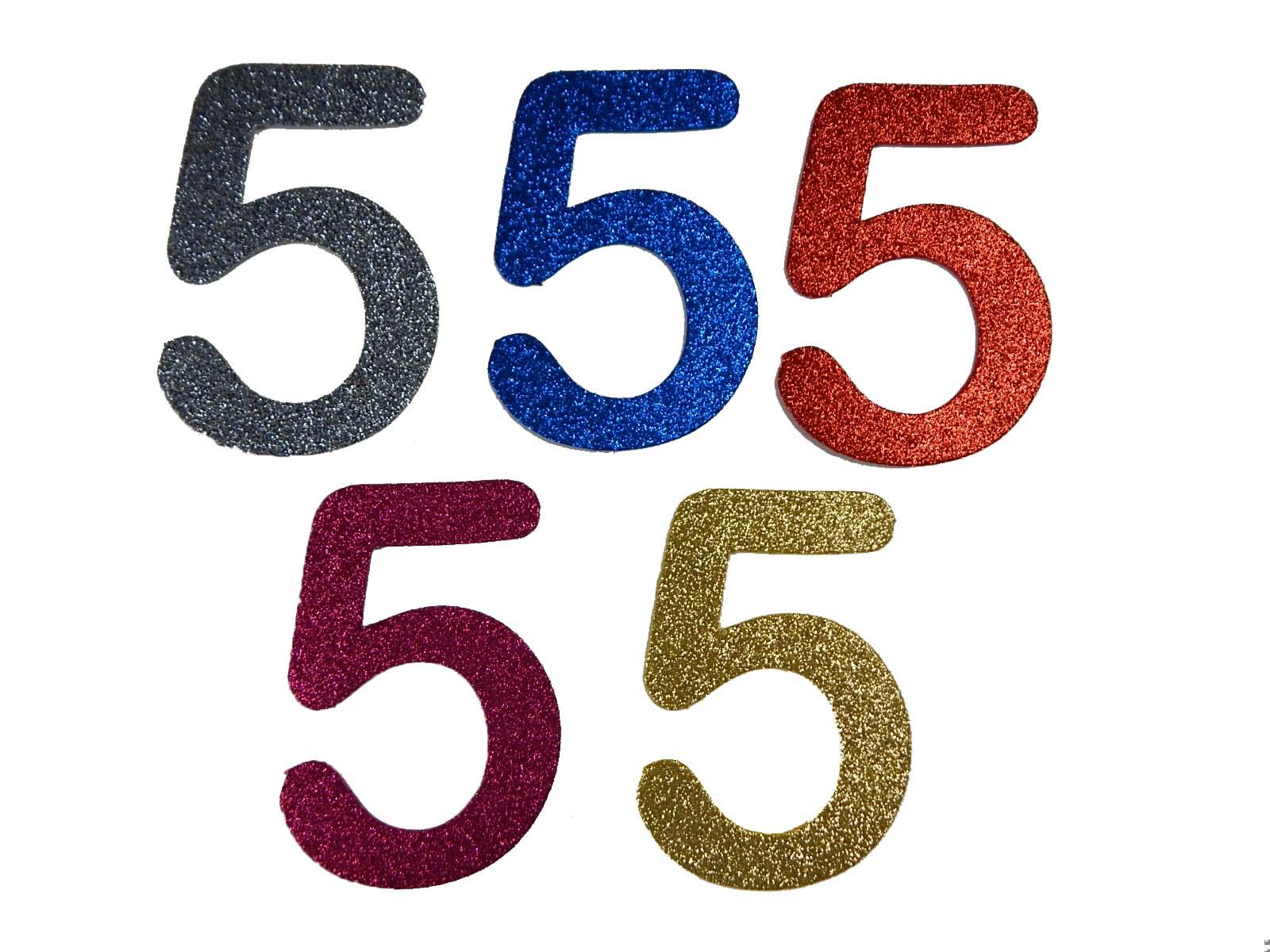 Numero em Eva 5 12cm Glitter