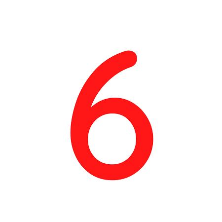 Numero em Eva 6 12cm