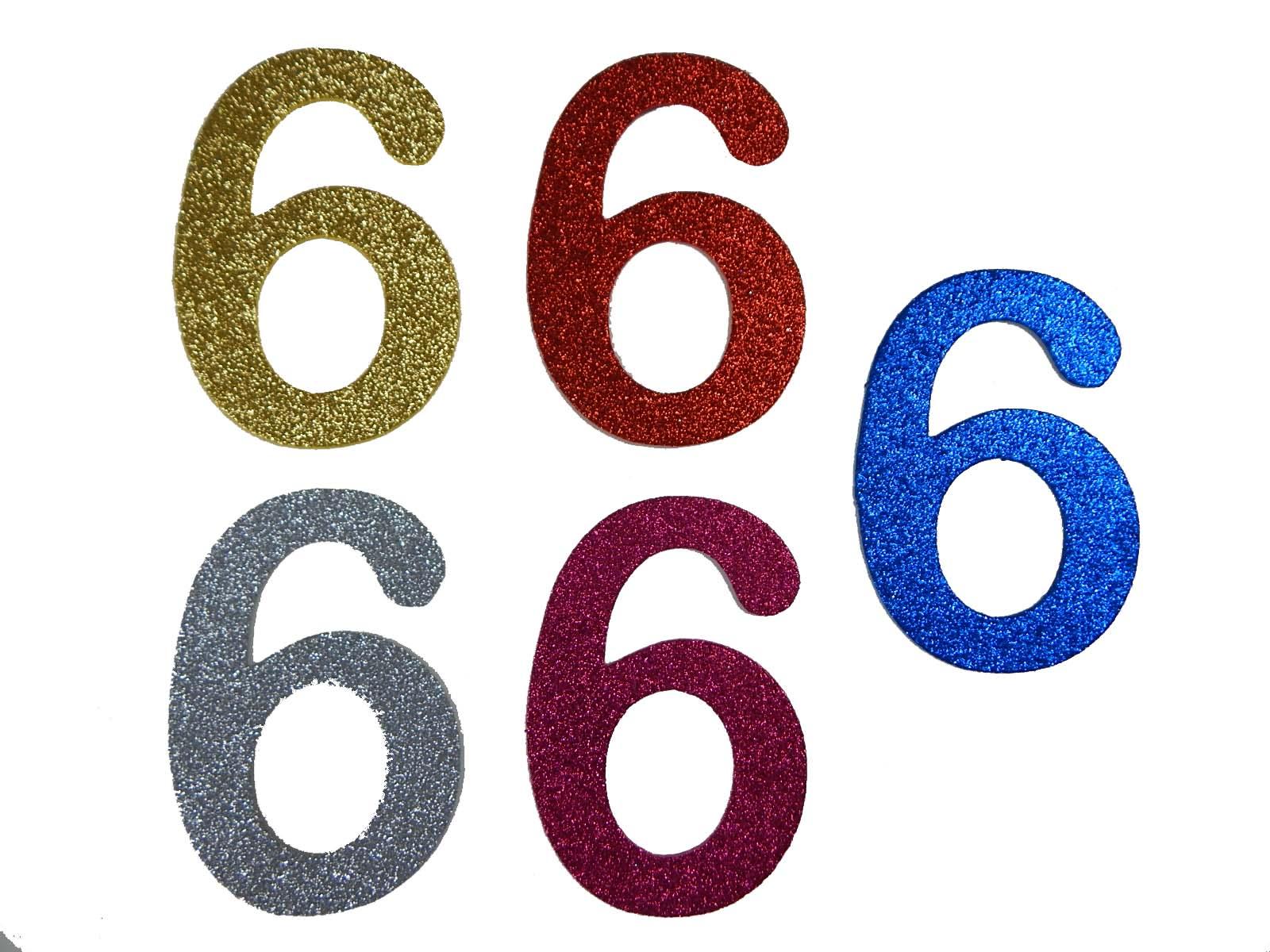 Numero em Eva 6 12cm Glitter