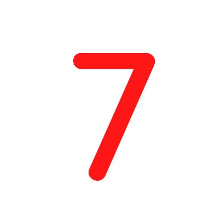 Numero em Eva 7 12cm
