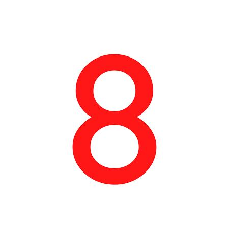 Numero em Eva 8 12cm