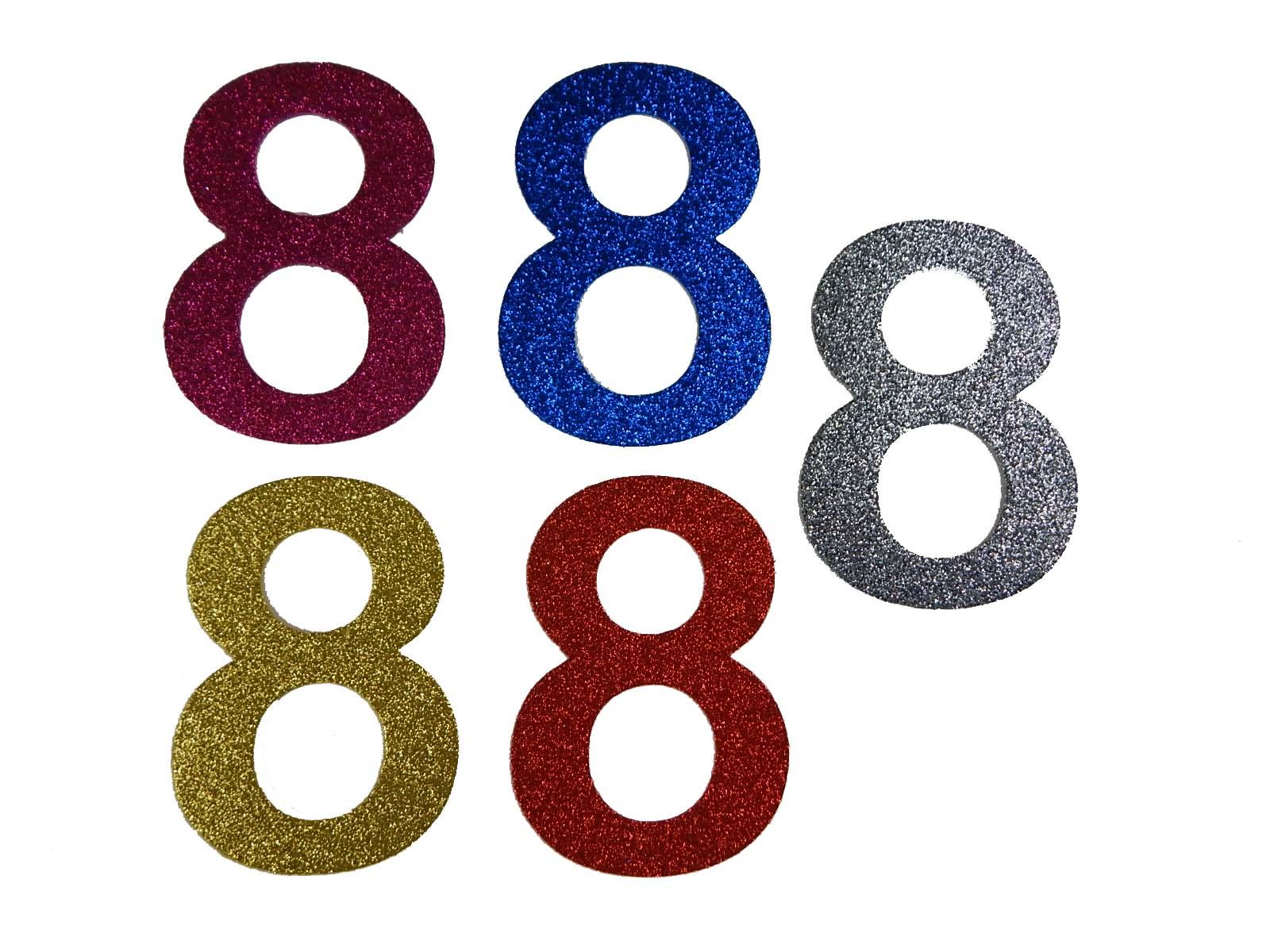 Numero em Eva 8 12cm Glitter