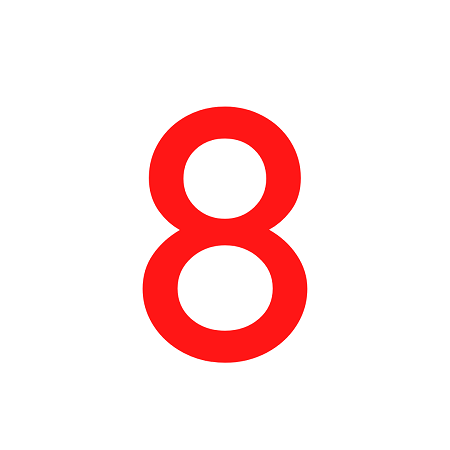 Numero em Eva 8 4,5cm