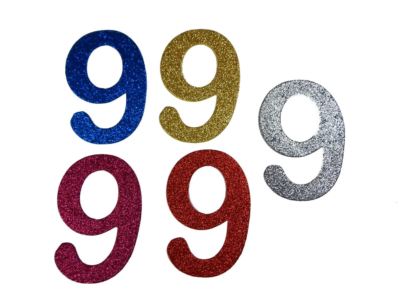 Numero em Eva 9 12cm Glitter