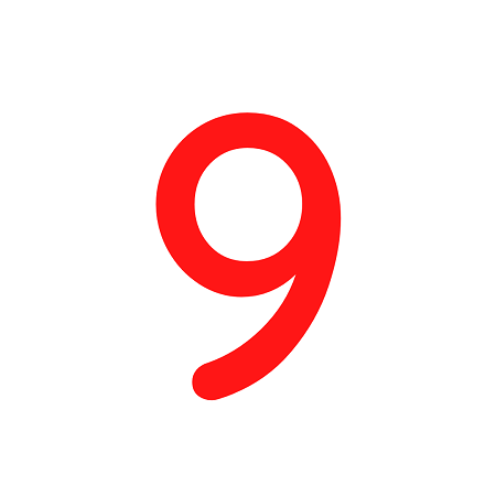 Numero em Eva 9 7cm