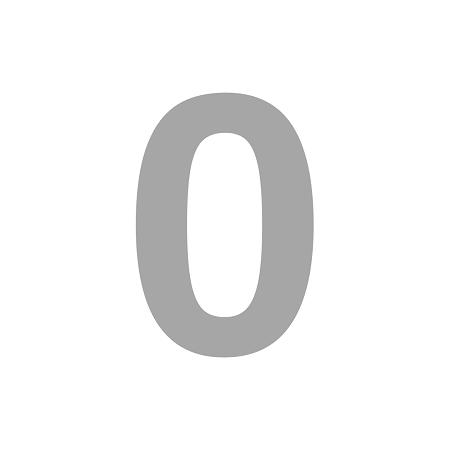 Numero Isopor 30cm Altura x 3cm Espessura