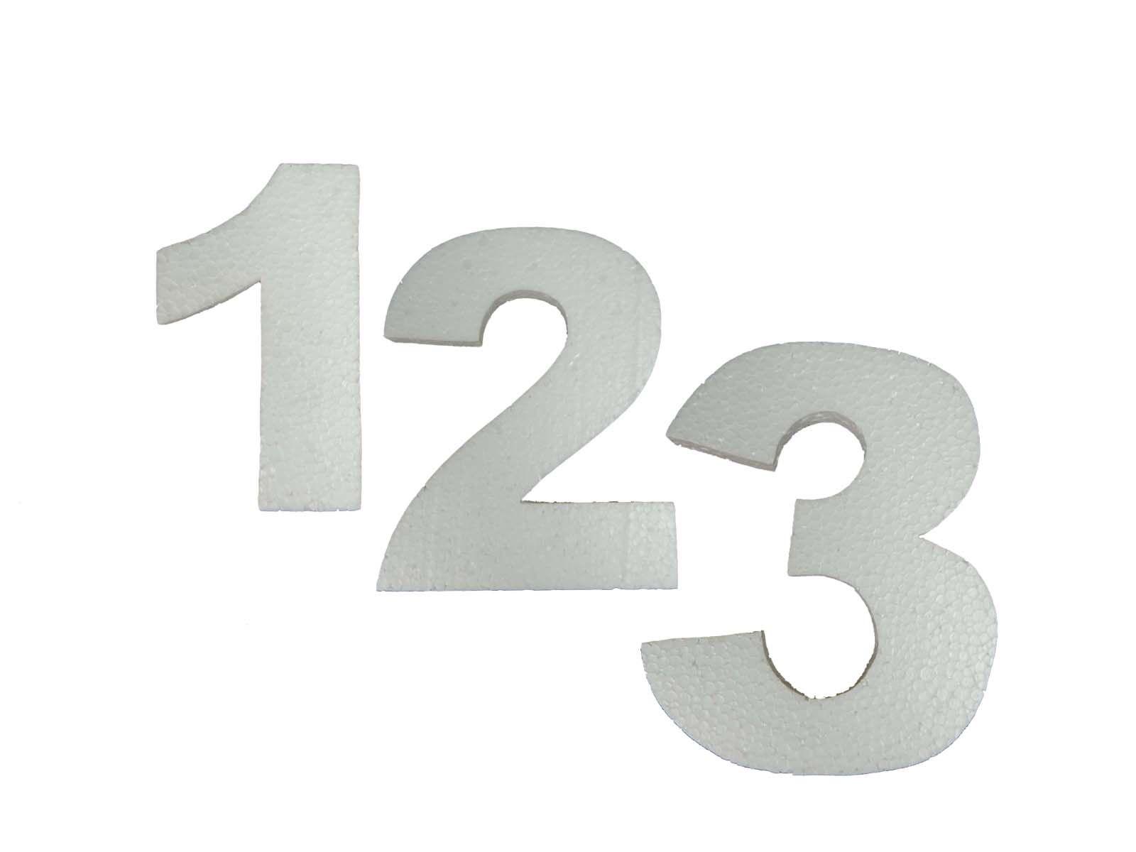 Numero Isopor Arial Black 10cm