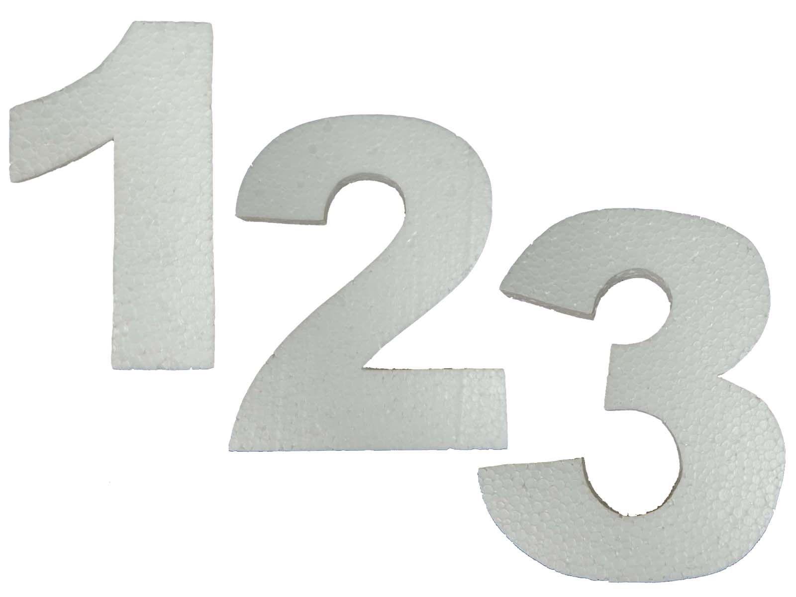 Numero Isopor Arial Black 20cm