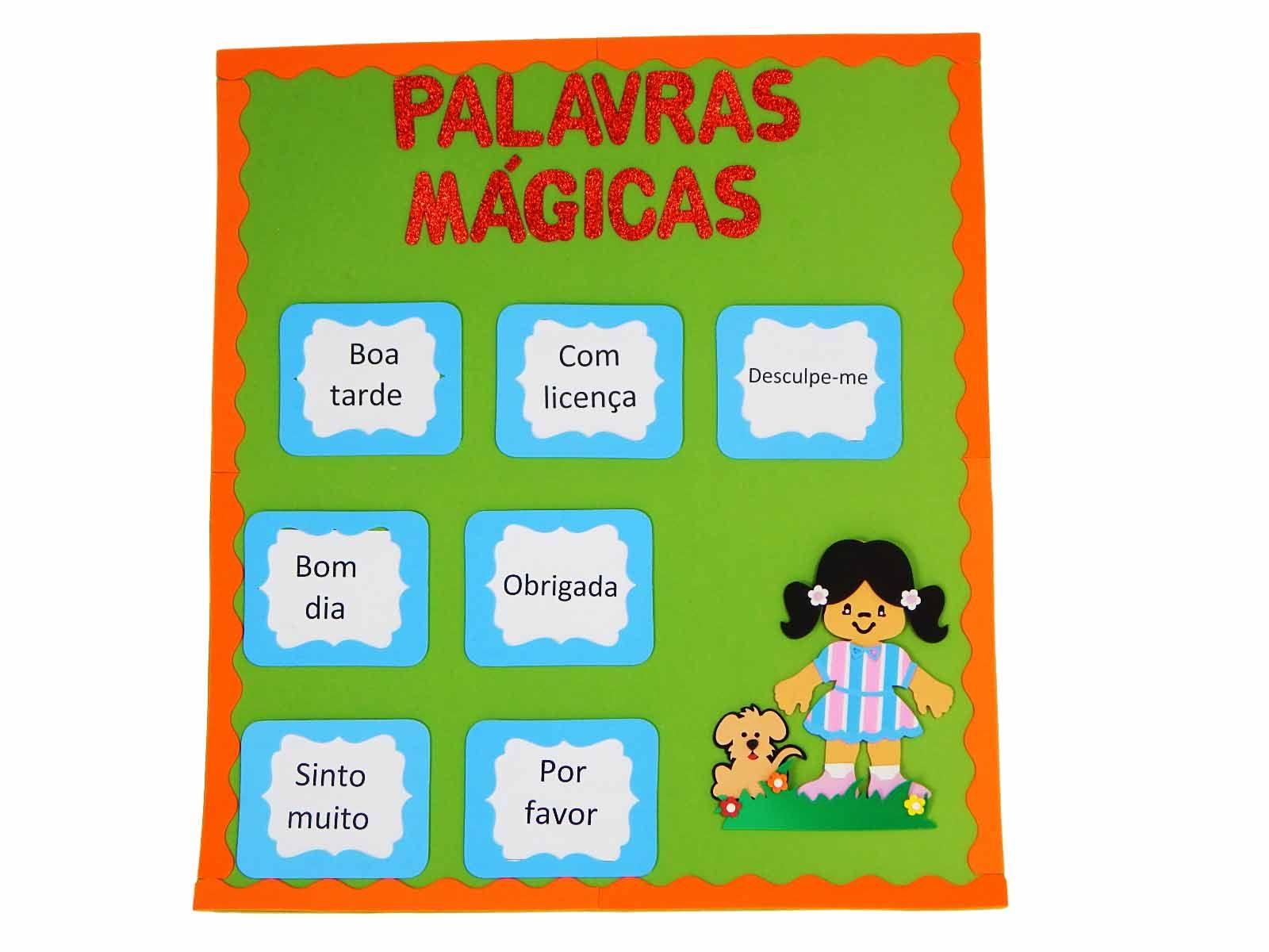 Painel Eva Palavras mágicas