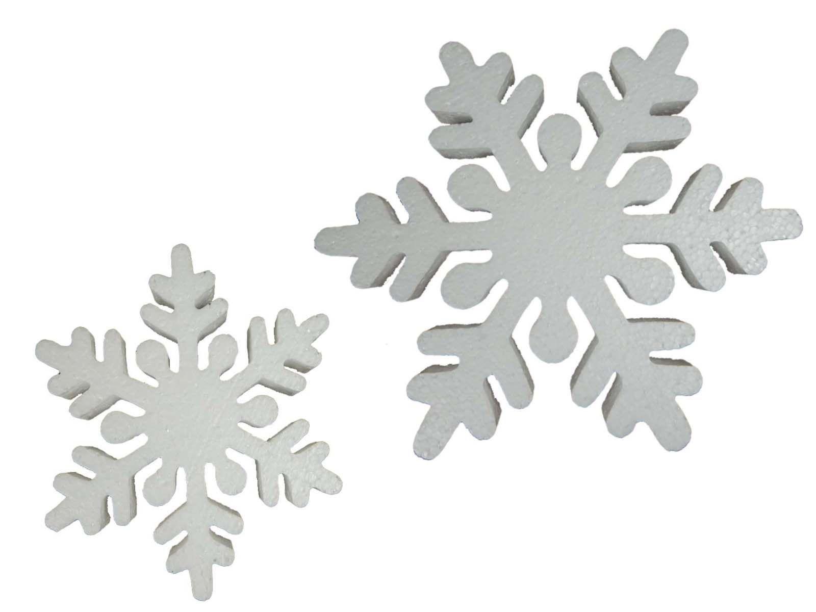 Recorte Isopor Flocos de Neve Modelo 1