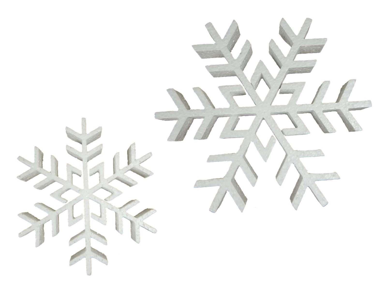 Recorte Isopor Flocos de Neve Modelo 2