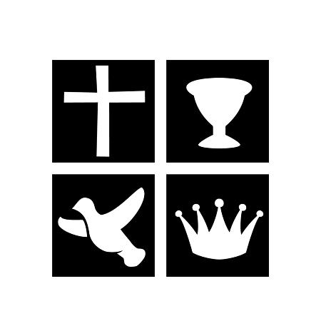 Recorte Isopor Kit Simbolos Quadrangular