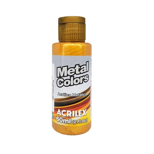 Tinta Pva Metal Colors Dourada Acrilex 60ml