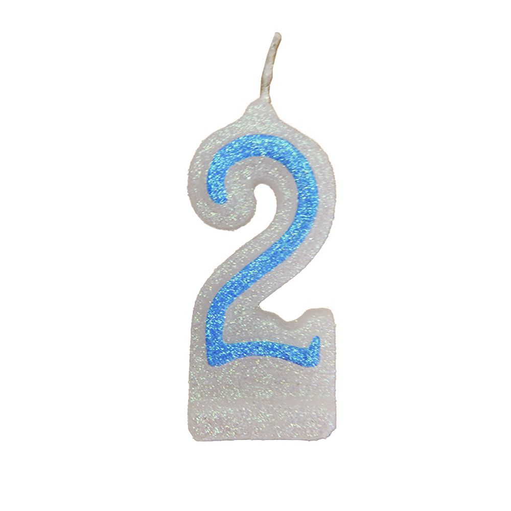 Vela de Aniversário Azul Nº 2